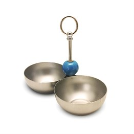 Turquoise Double Snack Bowl SIL691