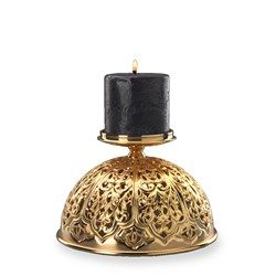 Inlaid Candle Holder Gold857