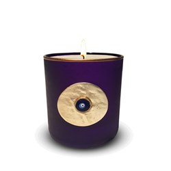Evil Eye Scented Candle Purple Gold491