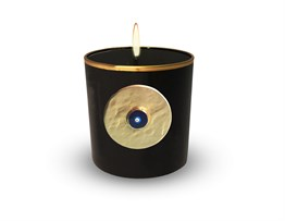 Evil Eye Scnted Candle Black Gold493