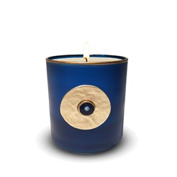 Evil Eye Scended Candle Tuquoise Gold 491